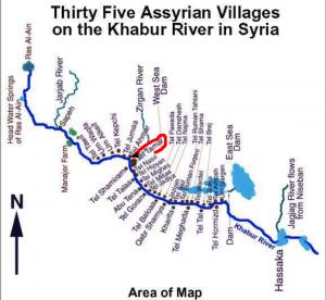 Christliche Dörfer in Syrien Irak