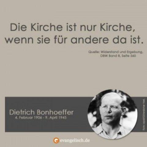 70. Todestag von Dietrich Bonhoeffer – Gottesdienst