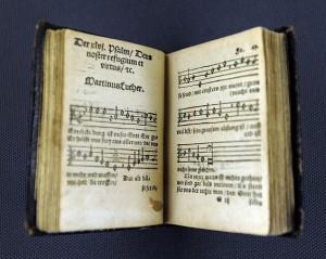 Klugsches Gesangbuch im Lutherhaus in Wittenberg