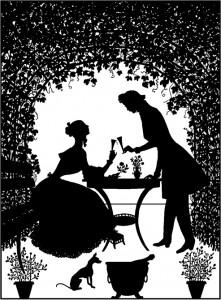 Liebende im Rosenhag