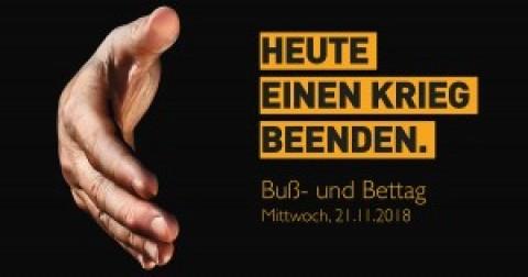 BUß- UND BETTAG – Mittwoch 21. November 2018