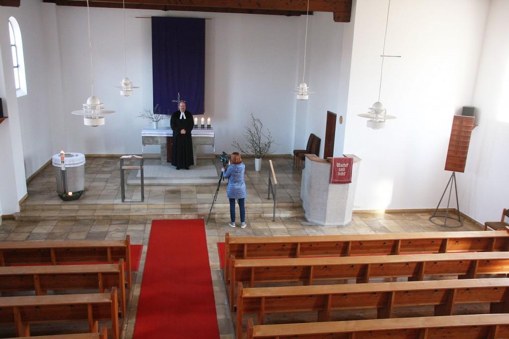 Gottesdienst in der leeren Auferstehungskirche