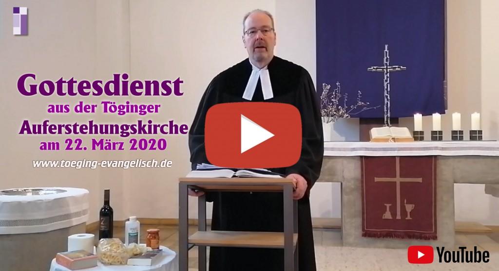 Online-Gottesdienst am 22. März aus der Auferstehungskirche