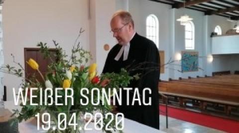 Weißer Sonntag aus der Auferstehungskirche Töging, 19.04.2020