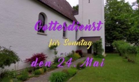 Gottesdienst für den Sonntag Exaudi (24. Mai) mit einer Aufzeichnung von Christi Himmelfahrt aus der Auferstehungskirche