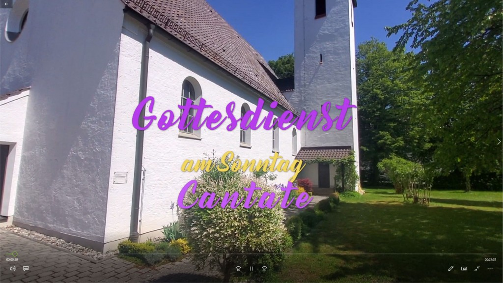 Onlinegottesdienst am Sonntag Cantate