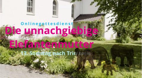 """""""Die unnachgiebige Elefantenmutter"""" – Ein Onlinegottesdienst im September"""