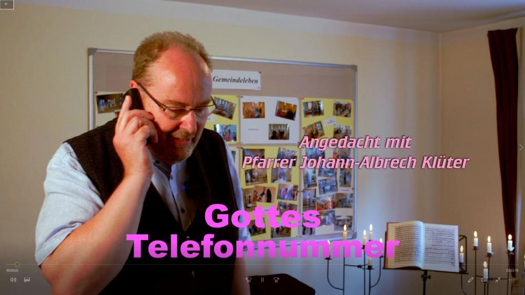 Angedacht: Gottes Telefonnummer